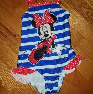 Toddler girls minnie mouse bathing suit